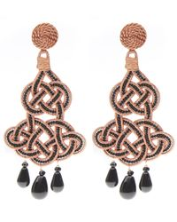 Anna E Alex | Black Agate Chandelier Deco Earrings | Lyst