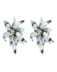 Alexis Bittar - Blue Gold-plated Inverted Abstract Lucite Poppy Earrings - Lyst
