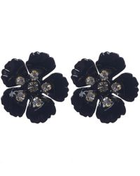Jennifer Behr | Black Gold-plated Blossom Earrings | Lyst