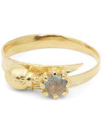 Alex Monroe | Metallic Ladybird And Labradorite Ring | Lyst
