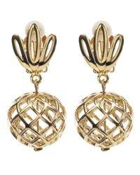 Lele Sadoughi | Metallic Gold-plated Pineapple Earrings | Lyst