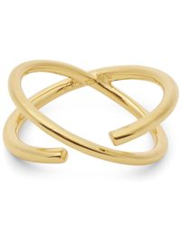 Maria Black | Metallic Gold-plated Twin Ring | Lyst