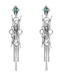 DANNIJO - Metallic Silver Dharma Drop Earrings - Lyst
