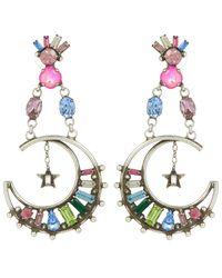 DANNIJO - Metallic Silver Grianne Crystal Drop Earrings - Lyst