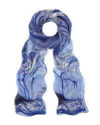Liberty | Blue Heron 70 X 180 Silk Chiffon Scarf | Lyst