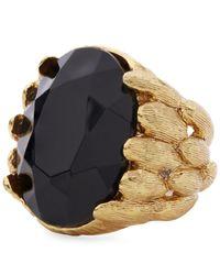 Oscar de la Renta - Black Monarch Ring - Lyst
