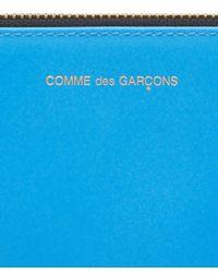 Comme des Garçons - Orange Super Fluoro Medium Leather Zip Pouch - Lyst