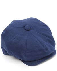 Christys' - Blue 8 Piece Linen Baker Boy Hat for Men - Lyst