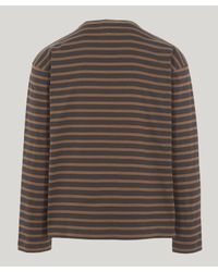 Margaret Howell - Gray Matelot Naval Stripe T-shirt for Men - Lyst