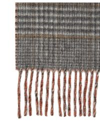 Johnstons - Multicolor Cashmere Reversible Check Scarf for Men - Lyst