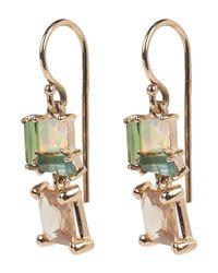 Nak Armstrong - Metallic Rose Gold Multi-stone Drop Earrings - Lyst