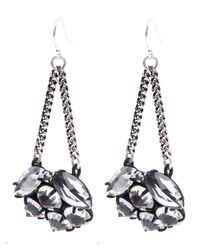 Lulu Frost - Metallic Silver-plated Diamanda Drop Earrings - Lyst