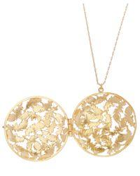 Alex Monroe - Metallic Gold-plated Feather Keepsake Locket Necklace - Lyst
