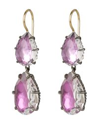 Larkspur & Hawk - Multicolor Large Silver Caterina Double Drop Earrings - Lyst