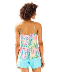 Lilly Pulitzer - Blue Abena Top - Lyst