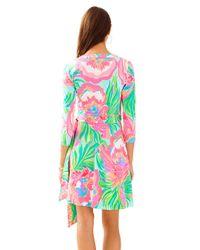 Lilly Pulitzer - Blue Emilia Wrap Dress - Lyst