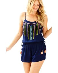 Lilly Pulitzer - Blue Beeler Romper - Lyst