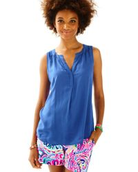 Lilly Pulitzer - Blue Sleeveless Stacey Top - Lyst