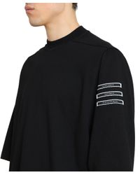 DRKSHDW by Rick Owens - Black Jumbo Cotton T-shirt for Men - Lyst