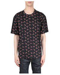 Au Jour Le Jour - Black Printed Cotton T-shirt for Men - Lyst