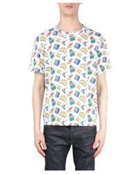 Au Jour Le Jour - Multicolor Printed Cotton T-shirt for Men - Lyst