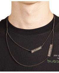 Raf Simons - Black Replicants Necklace for Men - Lyst
