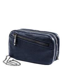 Linea Pelle   Black Zipper Crossbody Bag   Lyst
