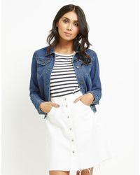 ONLY   Blue Vintage Denim Jacket   Lyst