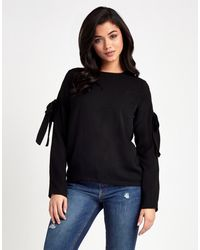 Fashion Union | Black Ruffle Sleeve Blouse | Lyst