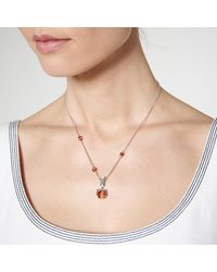 L.K.Bennett - Metallic Gaia Blush Crystal Necklace - Lyst