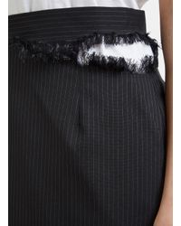 Facetasm - Cut-out Pinstripe Skirt In Black - Lyst