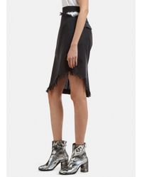 Facetasm - Cut-out Pinstripe Skirt In Black - Lyst