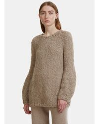 Lauren Manoogian - Natural Bulb Shaped Chunky Knit Sweater In Beige - Lyst