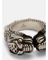 Gucci - Metallic Vintage Tiger Ring In Silver - Lyst