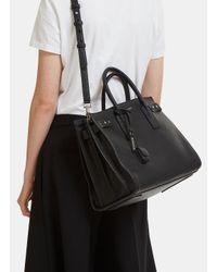 f4880237c26f Lyst - Saint Laurent Medium Sac De Jour Grained Handbag In Black in ...