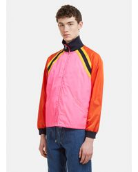47f22107f Lyst - Gucci Logo-printed Nylon Shell Jacket in Pink for Men