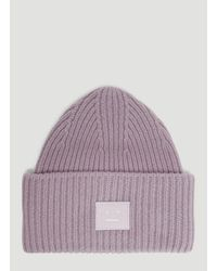 035bc051a411ed Acne Studios Pansy N Face Knit Hat In Purple in Purple - Lyst