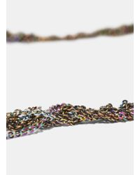 Arielle De Pinto - Metallic Women's Hairy Simple Burnt Gold And Spectrum Necklace In Gold - Lyst