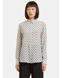 Altuzarra   Women's Chika Cherry Print Shirt In White   Lyst