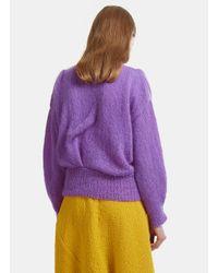 Anntian | Handmade Knit Bird Sweater In Purple | Lyst