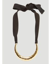Marni - Metallic Textured Crescent Necklace In Gold - Lyst