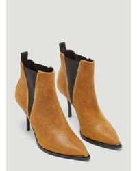 Acne - Jemma Waxed Suede Stiletto Boots In Brown - Lyst