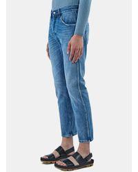 Gucci - Men's Washed Slim Leg Jeans In Blue for Men - Lyst