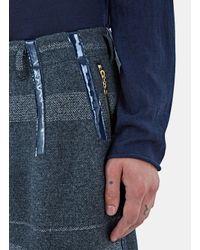 Kolor - Gray Men's Oversized Metallic Bar Stripe Shorts In Grey for Men - Lyst
