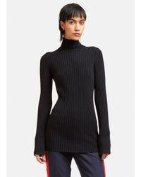 Stella McCartney   Women's Ribbed Knit Roll Neck Sweater In Black   Lyst