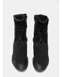 Y-3 - Men's Qasa High Boots In Black for Men - Lyst