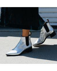 Loeffler Randall - Metallic Nellie Chelsea Boot - Lyst