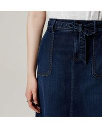 LOFT - Blue Tie Waist Denim Skirt - Lyst