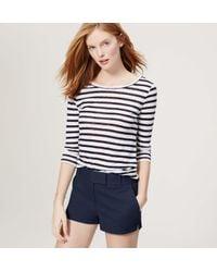 "LOFT - Blue Riviera Shorts With 2 1/2"" Inseam - Lyst"