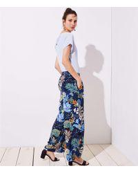LOFT - Blue Tropicalia Fluid Wide Leg Pants - Lyst